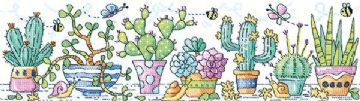 Heritage Crafts Karen Carter Collection Cross Stitch Kit - Cactus Garden